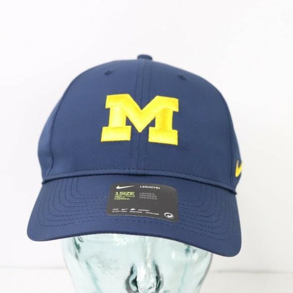 1468400043d New Nike Dri-Fit Michigan Wolverines Hat Cap Blue